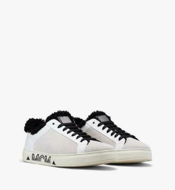 Item - White Suede Black Shearling Low-top Sneaker 44/Us 11 Mex9ada02wt Shoes