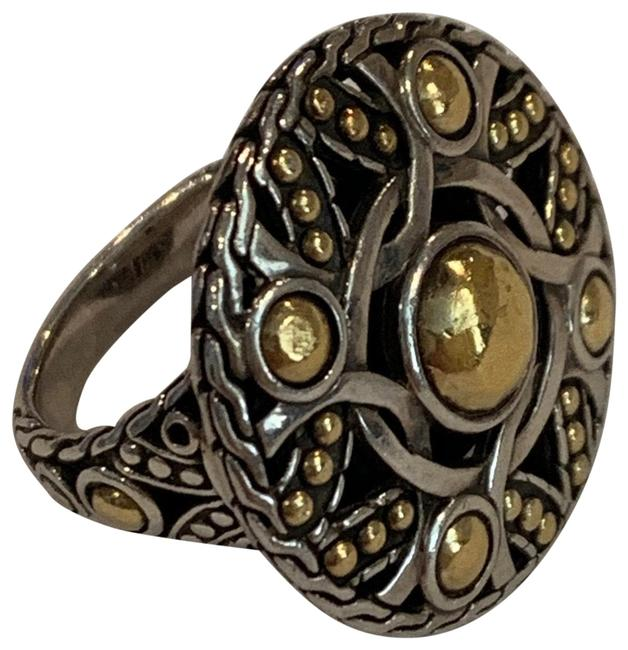 Item - Gold /Sterling Silver Bulan Coin 22kt and Size 7 Ring