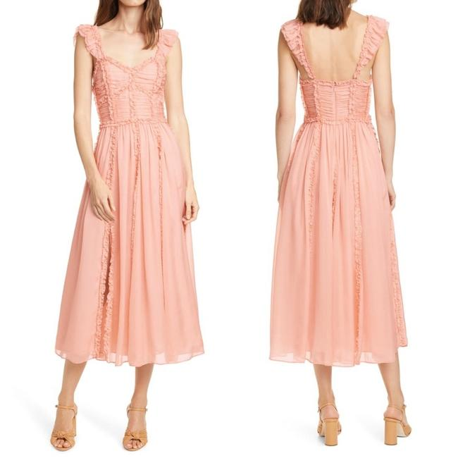 Item - Blush New Florence Ruffle Silk Midi Mid-length Casual Maxi Dress Size 6 (S)