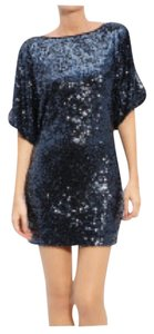 Aidan Mattox Cocktail Sequin Open Short Party Dress