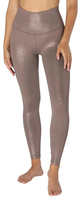 Item - Mocha Brown/Rose Gold Twinkle High Waisted Legging Activewear Bottoms Size 2 (XS)