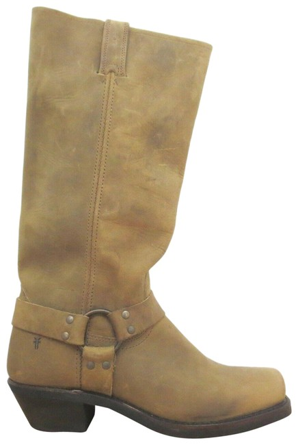 Frye Brown Box W - Tan Leather Knee High Harness 15r New W/ Boots/Booties Size US 10 Regular (M, B) Frye Brown Box W - Tan Leather Knee High Harness 15r New W/ Boots/Booties Size US 10 Regular (M, B) Image 1