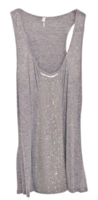 Preload https://img-static.tradesy.com/item/28412/willow-and-clay-grey-shiny-tank-night-out-top-size-8-m-0-0-650-650.jpg