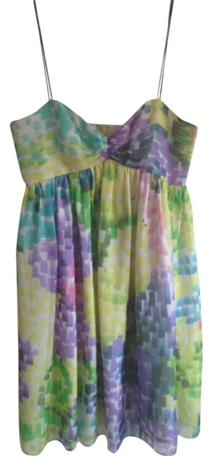 Item - Multi-colored Print Above Knee Cocktail Dress Size 6 (S)