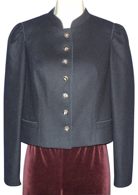 Item - Dark Navy Blue Austria Riding Jacket Top Stitching Activewear Size 6 (S)