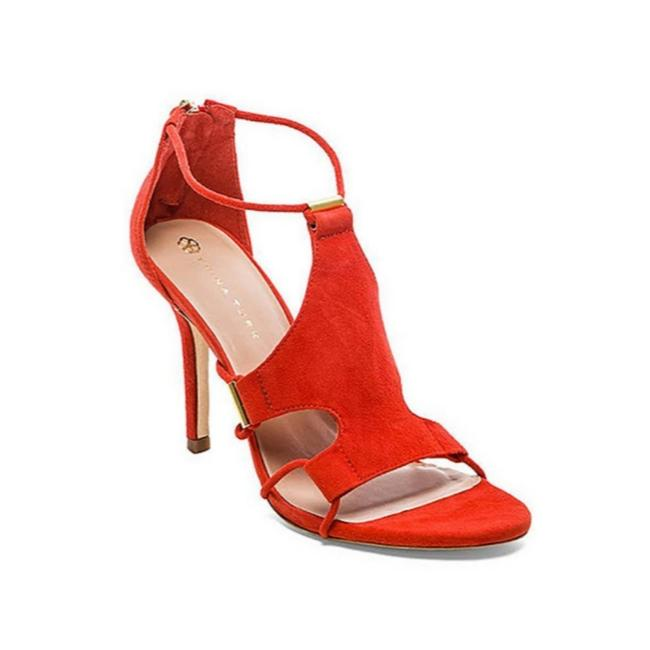 Item - Orange Lucca Suede Heels Sandals Size US 6.5 Regular (M, B)