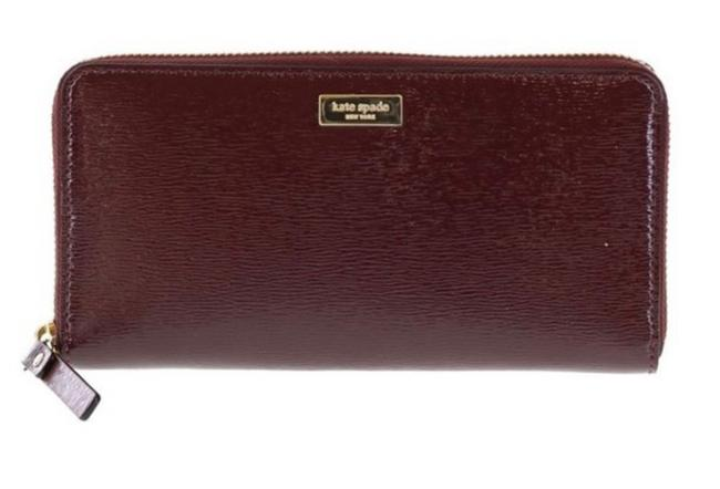 Item - Mulled Wine Bixby Place Patent Leather Neda Zip Around Wallet