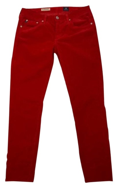 "Item - Red ""The Stevie"" Slim Pants Size 8 (M, 29, 30)"