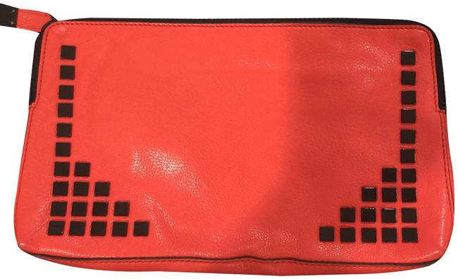 Item - Studded Red Leather Clutch