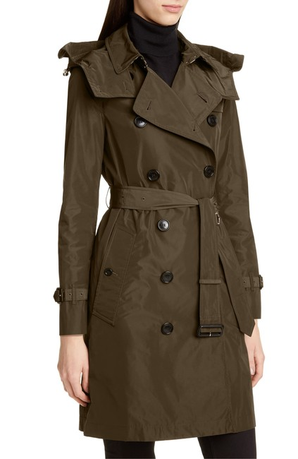 Item - Khaki Kensington With Detachable Hood Coat Size 0 (XS)
