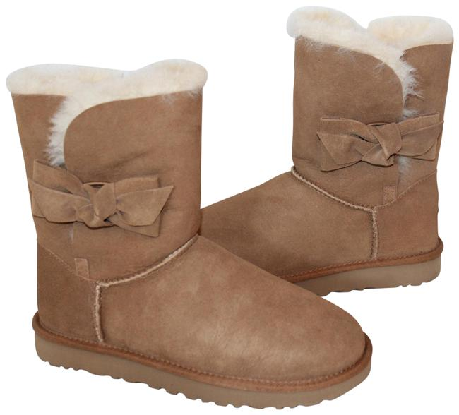 Item - Chestnut Brown Daelyn Bow Short Suede Shearling Boots/Booties Size US 10 Regular (M, B)
