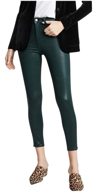 Item - Green Coated Margot High Rise Skinny Jeans Size 2 (XS, 26)