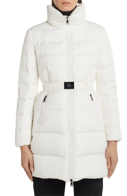 Item - White Accenteur Belted Quilted Down Puffer Coat Size 4 (S)
