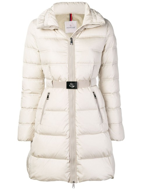 Item - White Accenteur Belted Quilted Down Puffer Coat Size 0 (XS)