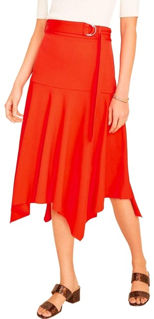 Item - Red Belted Handkerchief Skirt Size 12 (L, 32, 33)