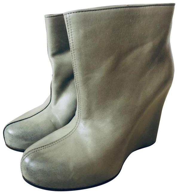 Item - Gray Ombre Wedge Boots/Booties Size EU 36 (Approx. US 6) Regular (M, B)