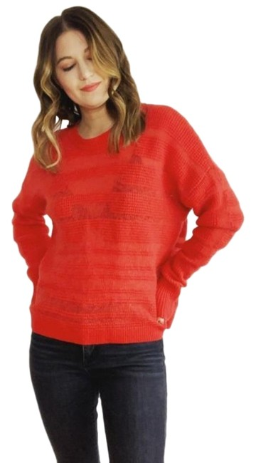 Item - Wool Cashmere Mohair Red Sweater