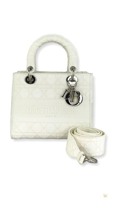 Item - Lady Cannage Embroidery D-lite #32002 White Canvas Tote