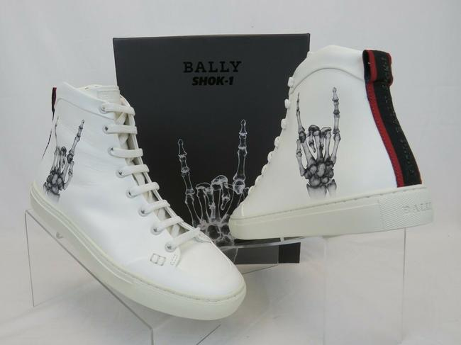 Item - White Hercules Shok 1 Leather Logo High Top Lace Up Sneakers 8.5 D Shoes