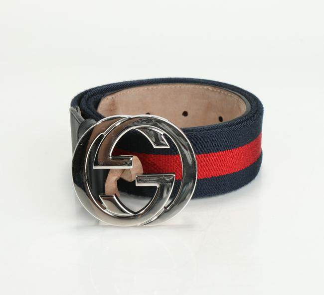 Item - Red/Blue Belt with G Buckle Men's Jewelry/Accessory