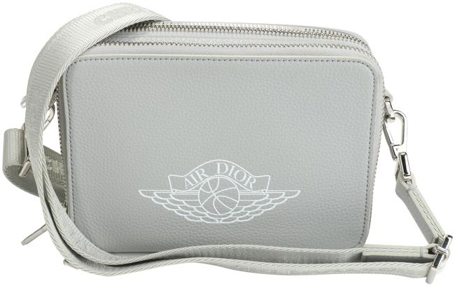 Item - Wing Basketball Logo Small Zipped Around Compact Gray/White Leather Messenger Bag
