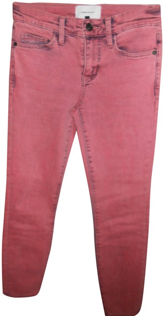 Item - Coral Medium Wash Low Rise Skinny Jeans Size 24 (0, XS)