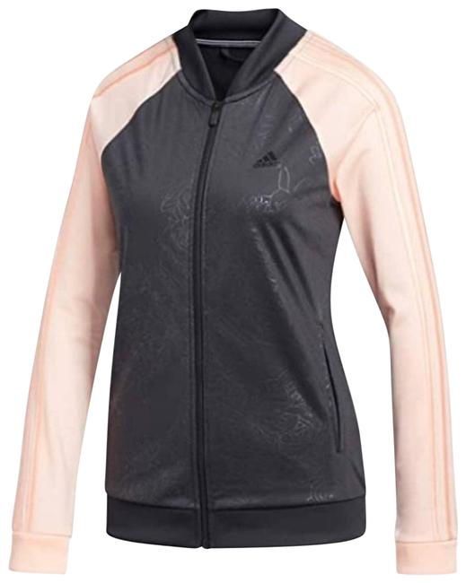 Item - Black Full Zip Climalite Embossed Track Jacket. Activewear Sportswear Size 8 (M, 29, 30)