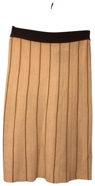 Item - Ivory Navy Waist & Mustard Pin Stripes 13123303 Skirt Size 2 (XS, 26)