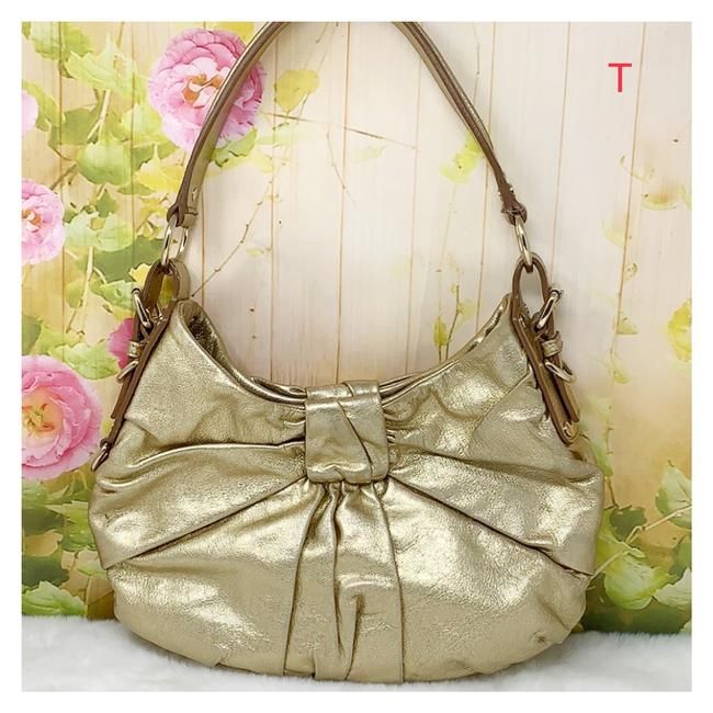 Item - Yves Gold Leather Hobo Bag