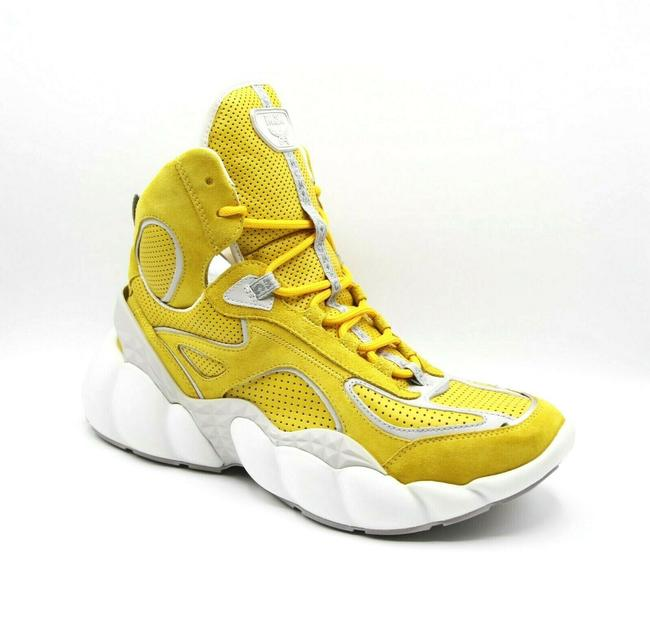 Item - Yellow Men's Suede Hi-top Sneakers 41/Us 8 Mex9snx02yw Shoes