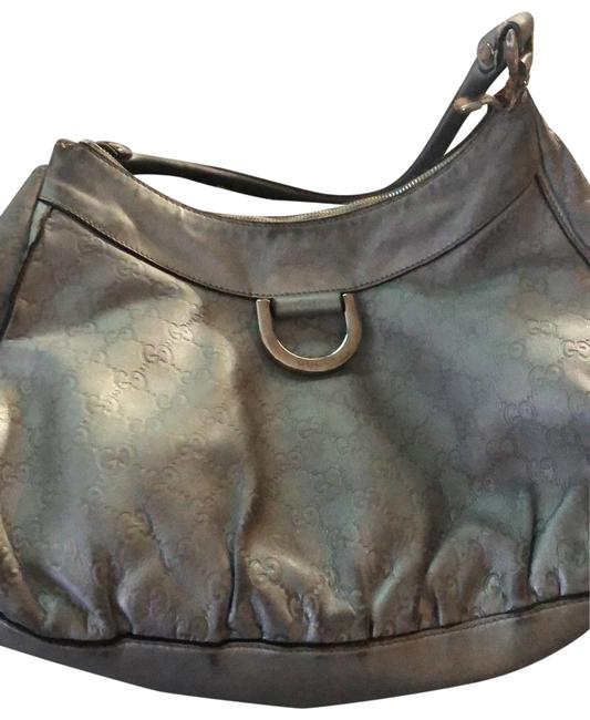 Item - Silver / Grey Lambskin Leather Satchel
