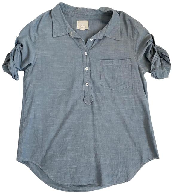 Item - Blue Chambray Popover Blouse Size 0 (XS)