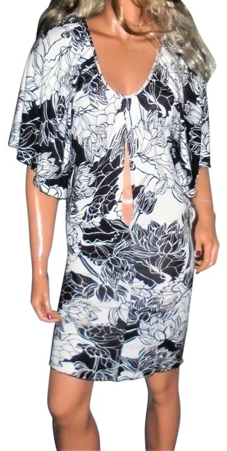Item - Multi Colored White Chocolate Floral Short Night Out Dress Size 4 (S)