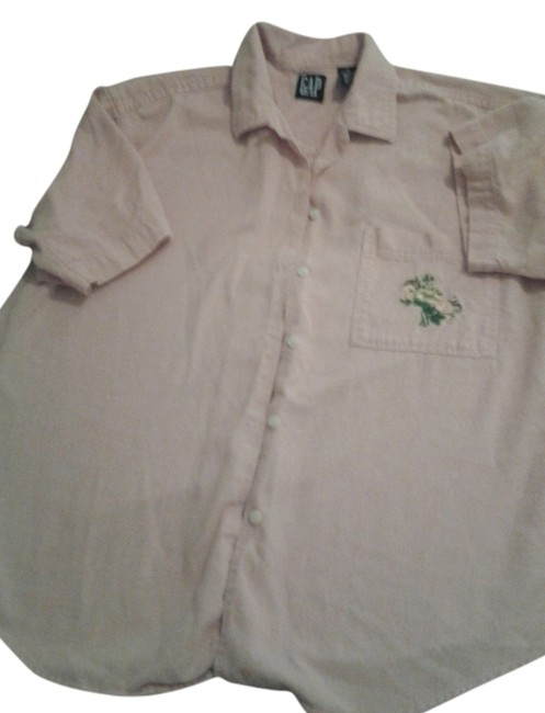Gap Embroidered Cotton Top peach