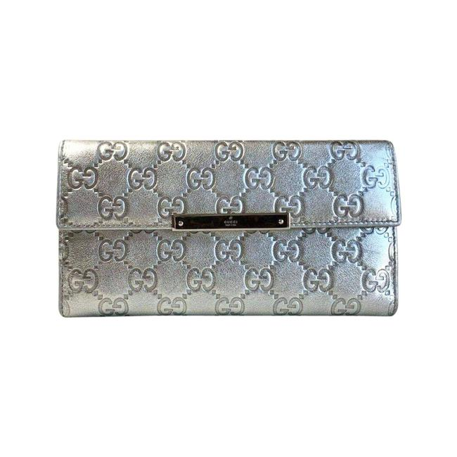 Item - Metallic Silver ssima Leather Continental 112715 Wallet