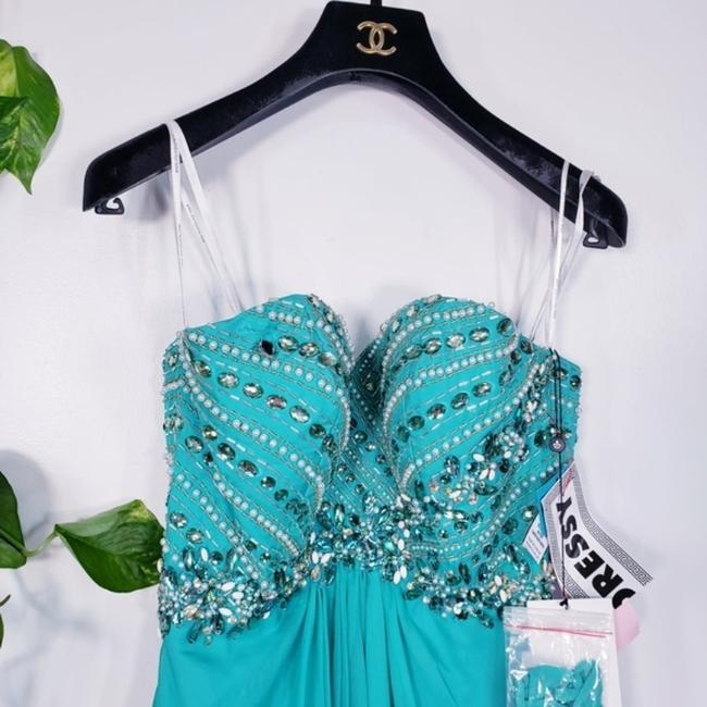 Alyce Paris Electric Green A-line Silky Beaded Long Formal Dress Size 4 (S) Alyce Paris Electric Green A-line Silky Beaded Long Formal Dress Size 4 (S) Image 8