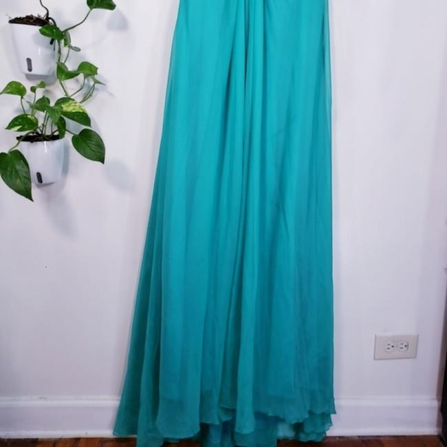Alyce Paris Electric Green A-line Silky Beaded Long Formal Dress Size 4 (S) Alyce Paris Electric Green A-line Silky Beaded Long Formal Dress Size 4 (S) Image 10
