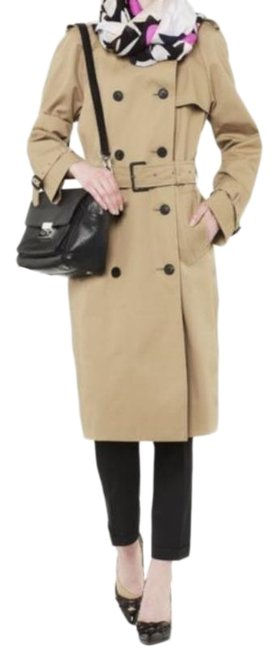 Item - Khaki Double Breasted Wool Lined Coat Size 12 (L)
