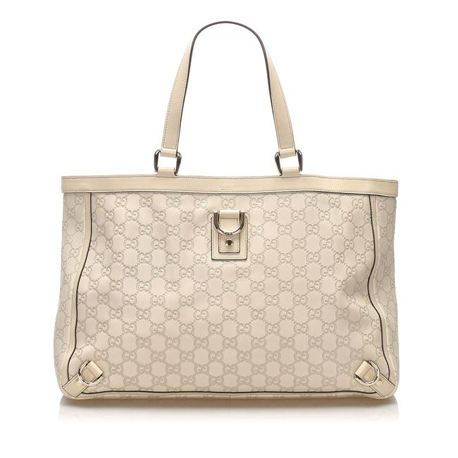 Item - Bag Abbey ssima D-ring White Leather Tote