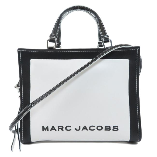 Item - Bag 2way Ladies Black / White Leather Tote
