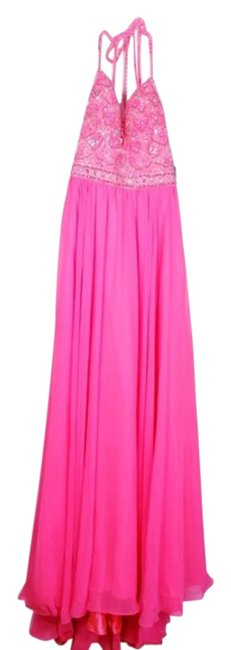 Item - Pink Soft Tulle Gown Long Formal Dress Size 12 (L)