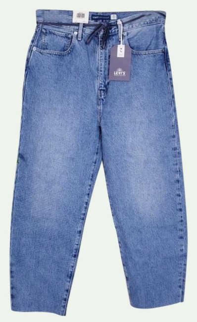 Item - Blue Medium Wash ® Made & Crafted Barrel Ankle Relaxed Fit Jeans Size 27 (4, S)