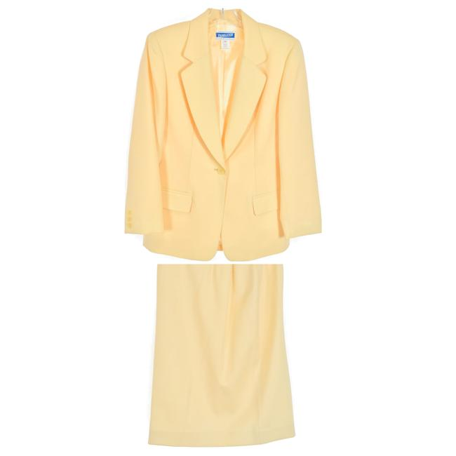 Item - Yellow Vintage Wool Blazer And Skirt Suit Size Petite 6 (S)