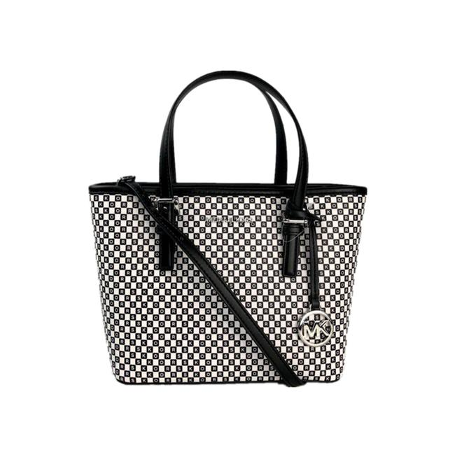 Item - XS New York City 35f0sw8t00 Jest Crystal Top Zip Opwht Multi Leather Tote