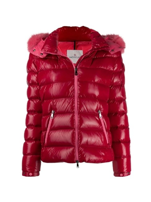 Item - Red Badyfur Quilted Down Puffer Jacket with Removable Genuine Fox Fur Trim Coat Size 4 (S)