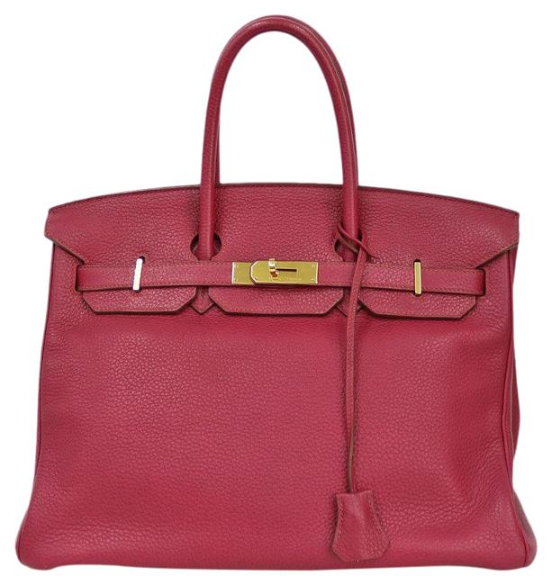 Item - Birkin Handbag 35 Ladies Red Color / Ruby / Ruby / Ruby Taurillon Clemence Leather Satchel