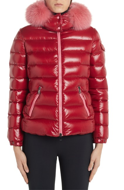 Item - Red Badyfur Quilted Down Puffer Jacket with Removable Genuine Fox Fur Trim Coat Size 2 (XS)