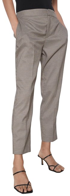 Item - Brown Houndstooth Trousers New Pants Size 4 (S, 27)