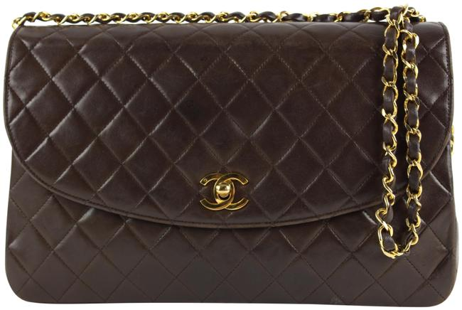 Item - Classic Flap Chocolate Quilted Large Chain 862402 Brown X Gold Lambskin Leather Shoulder Bag