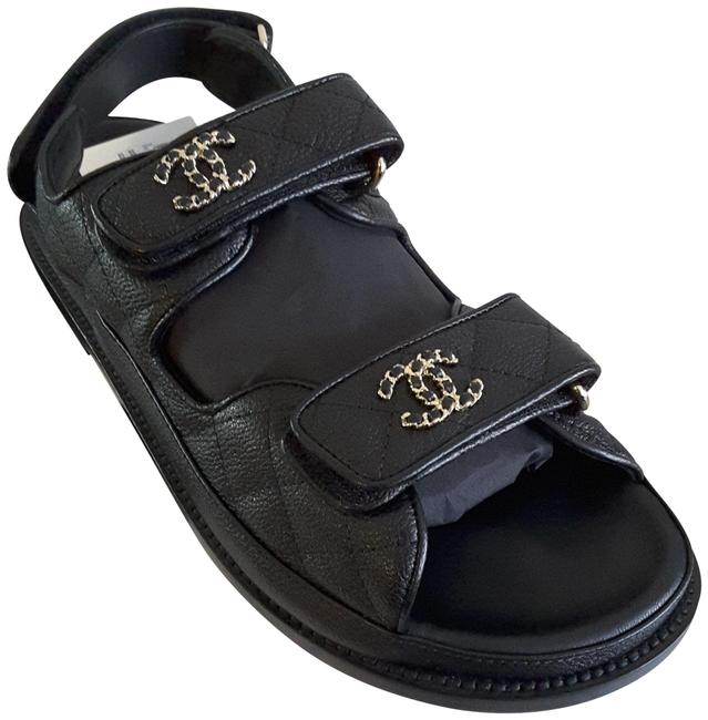 Item - Black Sold Out Dad Leather Sandals Size EU 38 (Approx. US 8) Regular (M, B)